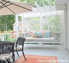 we have built our outdoor kitchen installed a covered tv painted the deck and now we have diy ed ourselves a swing bed