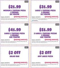 Chuck E Cheese Printable Chart 77 Best Chuck E Cheese Coupons Free Tokens Images In 2019