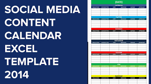 Social Media Calender Template Excel 2014 Editorial Planner For Social Media
