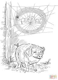 Small Picture Charlottes Web Coloring Page Coloring Home