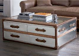 trunk table furniture. crave worthy trunks for coffee tables sundance steamer traditional furniture rectangle with drawers metallic silver trunk table