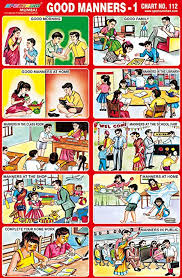 Good Manners Chart For Class 1 25 X Pre School Kids Learning Good Manners 1 Educational
