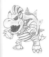 Coloring Page Of Bowser Junior Coloring Home