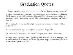 College Graduation Quotes Magnificent Graduation Quotes AuthorSTREAM