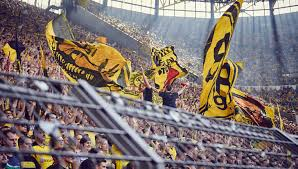 Dortmund is famous for having one of the home atmospheres in the world, with one stand known as the yellow wall, where 25,000 dortmund fans typically create and incredible and imposing sight. The Yellow Wall Borussia Dortmund Soccerbible