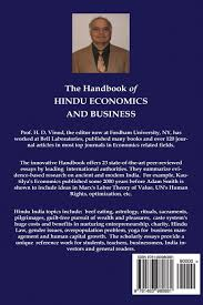 handbook of hindu economics and business prof hrishikesh d vinod handbook of hindu economics and business prof hrishikesh d vinod 9781483980881 com books