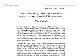 describe a place essay example com describe a place essay example 5 descriptive paragraph example