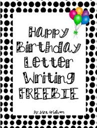 happy birthday letter writing paper bie tpt happy birthday letter writing paper bie