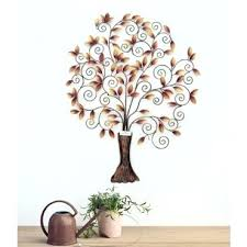 Design Decorative Interesting Metal Tree Design Decorative Wall Hanging Article Beautiful Home