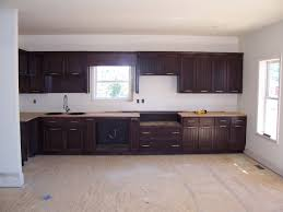 Dark Stained Industrial Style Kitchen Teeter Cabinets