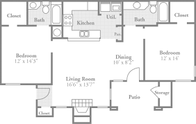 Crowne Oaks Apartments, Winston Salem, NC, Offers Two Extra Spacious Two Bedroom  Floor Plans With An Intimate Dining Room, Large Living Room, ...