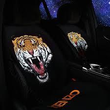 name hot s tiger kenzo wool velvet auto cushion universal car seat covers 5pcs set black