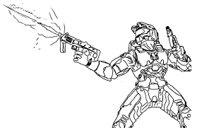 draw halo coloring pages 30 on free book with in