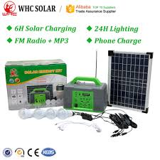 Solar Lighting System Supplier Portable Complete Pv Panel Energia System Camping Lamp Light Power Mini Generator Home Lighting Solar Energy Kit With Battery