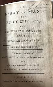 rare books just in page felix rare books an essay on man in four epistles by alexander pope 1771