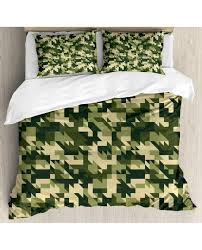 camo duvet cover set abstract chevron forest with pillow sham s