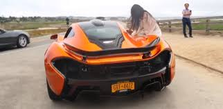 Woman Fails To Open Mclaren Door