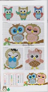 Owl Cross Stitch Pattern Custom Lots Of Owl Cross Stitch Patterns Google Translate From Portuguese