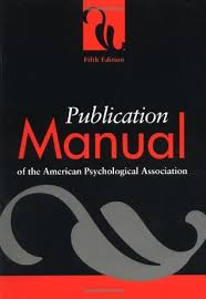 american phsycological association publication manual of the american psychological association by