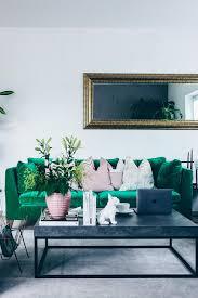 Unsere Neue Wohnzimmer Einrichtung In Grün Grau Und Rosa