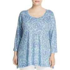 Nally And Millie Size Chart Nally Millie Womens Blue Knit Ruffled Pullover Sweater Top