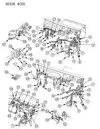 1990 dodge dakota wiring instrument panel diagram 000005zy