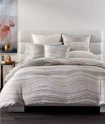 hotel collection agate wavy stripe multi 400 tc cotton shell king comforter 435
