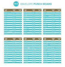 Envelope Punch Board Charts We R Memory Keepers Envelope