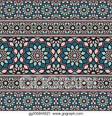 Arabic Pattern Eps Vector Vector Border Arabic Pattern Stock Clipart