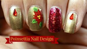 Poinsettia Designs Poinsettia Nail Art Tutorial