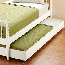 Kids White Jenny Lind Bed Storage Trundle - The Land of Nod