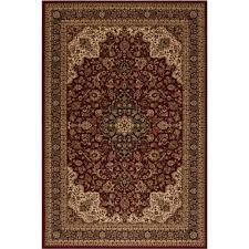 concord global trading persian classics medallion kashan red 5 ft x 8 ft area