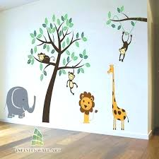 jungle wall decals jungle wall decals nursery wall stickers animal friends jungle safari tree kids wall