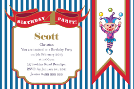 birthday invitations ideas clown capers postcard in midblue impressive invitations