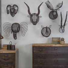wire animal trophy head art decorations