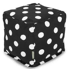Black And White Pouf House Furniture Bean Bag Ottomans Poufs Majestic Home Goods