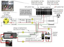 wiring diagram rv wiring diagram 2 battery rv wiring diagram, rv 50A RV Wiring Diagram neutral natural any rv wiring diagram breakers volt electronic engineering inverter bypass simply things dashed disconnect