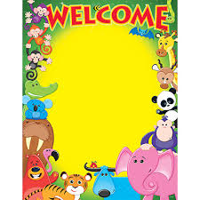Welcome Chart Images Welcome Awesome Animals Learning Chart