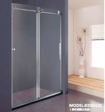 2 panels sliding door shower enclosures