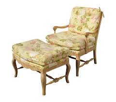 French Ottoman french country yellow floral accent chair & ottoman chairish 3310 by xevi.us