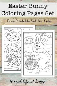 Easter Bunny Coloring Pages For Kids Free Printable Set