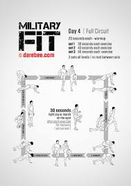 Military Workout Chart Military Fit 30 Day Fitness Program Health 30 Day