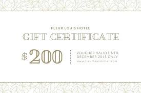 Microsoft Word Gift Certificate Template Gift Voucher Template