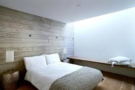 Beautiful Inspiring Forest House Bedroom Pallet Wood Wall Wooden Laminate Floor White  Bed Images
