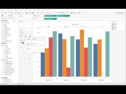 Tableau Bar Chart Different Colors Creation Of A Grouped Bar Chart Tableau Software