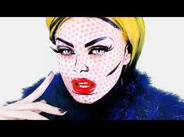 pop art ic book makeup roy lichtenstein andy warhol tutorial