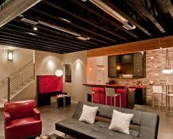 Interesting Unfinished Basement Ceiling Bedroom Pleasing Decoration Ideas W H With Perfect Design