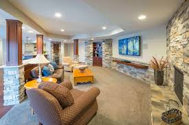 basement remodel. Cincinnati Lower Level Basement Remodel Ideas Photo