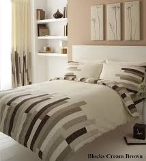 details about blocks brown duvet cover bedding set single double king super king all sizes