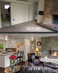 Open Floor Plan Living Room Furniture Arrangement Before And After Family Room Transformation Choppy Floor Plan No